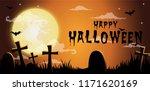halloween night background... | Shutterstock .eps vector #1171620169