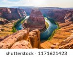 horseshoe bend at sunset.  page ... | Shutterstock . vector #1171621423