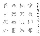 collection of 16 small outline...