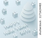 happy new year 2019 background... | Shutterstock .eps vector #1171624483