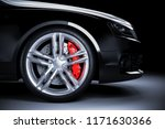 sports car wheel with red...   Shutterstock . vector #1171630366