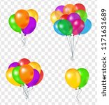 set of balloons  vector 3d... | Shutterstock .eps vector #1171631689
