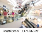bokeh of shopping mall | Shutterstock . vector #1171637029