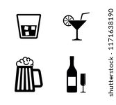 alcohol drinks. simple related...   Shutterstock .eps vector #1171638190