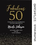 fabulous fifty birthday party... | Shutterstock .eps vector #1171641640