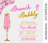 brunch and bubbly invitation.... | Shutterstock .eps vector #1171645216