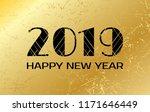 happy new year 2019. vector... | Shutterstock .eps vector #1171646449