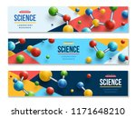 set of science horizontal... | Shutterstock .eps vector #1171648210