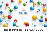 science banner with colorful 3d ... | Shutterstock .eps vector #1171648960