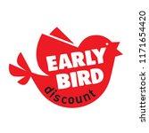 early bird special discount... | Shutterstock .eps vector #1171654420