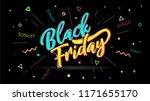 black friday. banner  speech... | Shutterstock .eps vector #1171655170