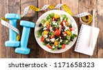 healthy eating concept | Shutterstock . vector #1171658323