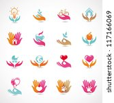 vector set with signs of love... | Shutterstock .eps vector #117166069