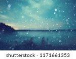 background autumn snow  ... | Shutterstock . vector #1171661353