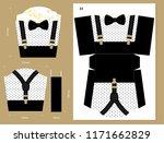 printable vector box for sweet... | Shutterstock .eps vector #1171662829
