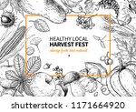 harvest festival. hand drawn... | Shutterstock .eps vector #1171664920