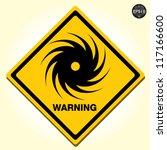 hurricane warning sign  vector | Shutterstock .eps vector #117166600