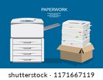 office multifunction machine.... | Shutterstock .eps vector #1171667119