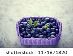 basket full of delicious plums  ... | Shutterstock . vector #1171671820