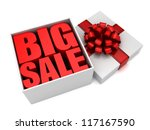3d render of open gift box with ... | Shutterstock . vector #117167590