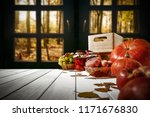 table background and window of... | Shutterstock . vector #1171676830