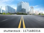 the expressway and the modern... | Shutterstock . vector #1171680316