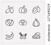 set of berry icons line style... | Shutterstock .eps vector #1171690219