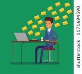 concept of communication. man... | Shutterstock . vector #1171694590