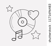 favorite song icon line element....   Shutterstock .eps vector #1171696483