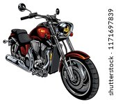 classic motorcycle drawn vector | Shutterstock .eps vector #1171697839