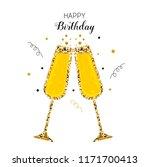 happy birthday greeting card... | Shutterstock .eps vector #1171700413