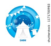 the magic show with paper cut... | Shutterstock .eps vector #1171700983