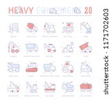 collection of vector flat icons ... | Shutterstock .eps vector #1171702603