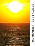 scenic seascape when sun... | Shutterstock . vector #1171713883