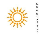 sun icon art deco vector... | Shutterstock .eps vector #1171719250