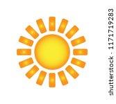 sun art deco vector isolated ... | Shutterstock .eps vector #1171719283