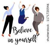 woman succsess positive vector... | Shutterstock .eps vector #1171720546