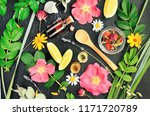 different bright natural herbal ... | Shutterstock . vector #1171720789