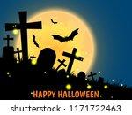 halloween background with... | Shutterstock .eps vector #1171722463