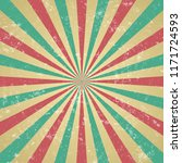 retro background with beam and... | Shutterstock .eps vector #1171724593