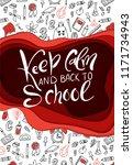 back to shool design poster.... | Shutterstock .eps vector #1171734943