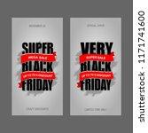 black friday sale inscription... | Shutterstock .eps vector #1171741600