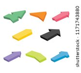 set of eight colorful isometric ... | Shutterstock .eps vector #1171743880