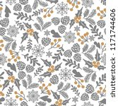 winter seamless vector pattern... | Shutterstock .eps vector #1171744606