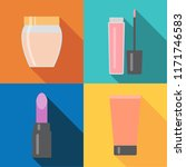 set of four makeup items in... | Shutterstock .eps vector #1171746583