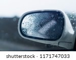 wet mirror  bokeh background.  | Shutterstock . vector #1171747033