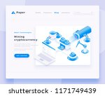 mining cryptocurrency concept... | Shutterstock .eps vector #1171749439