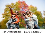 friendship  leisure and people... | Shutterstock . vector #1171752880