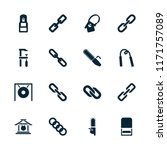 chain icon. collection of 16... | Shutterstock .eps vector #1171757089
