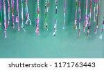 beaded tassels on green... | Shutterstock . vector #1171763443